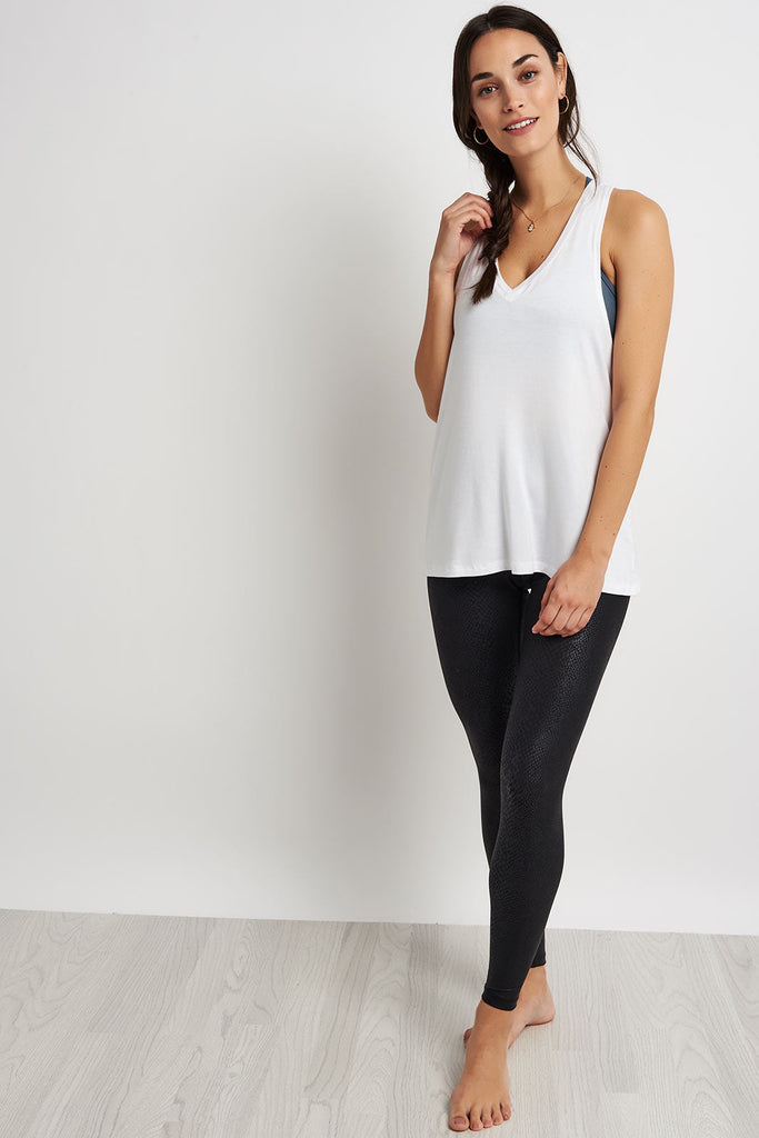 197a77d80f Beyond Yoga Twisted Racerback Tank - White image 4 - The Sports Edit