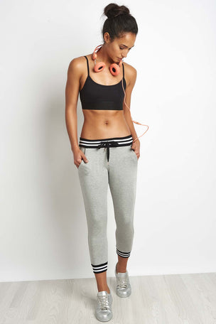 Beyond Yoga Varsity Cropped Sweatpant Grey image 4 - The Sports Edit