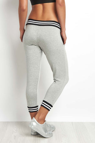 Beyond Yoga Varsity Cropped Sweatpant Grey image 2 - The Sports Edit