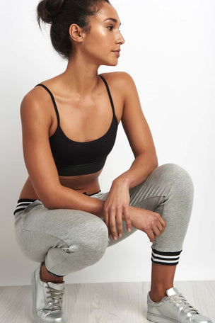 Beyond Yoga Varsity Cropped Sweatpant Grey image 3 - The Sports Edit