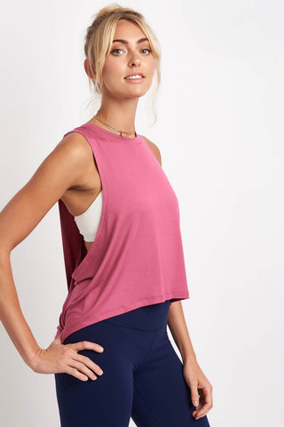 Beyond Yoga Wrap Around Tank - Imperial Rose image 1 - The Sports Edit