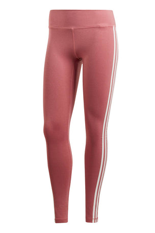 ADIDAS Believe This 3-stripes Tights - Noble Maroon image 5 - The Sports Edit