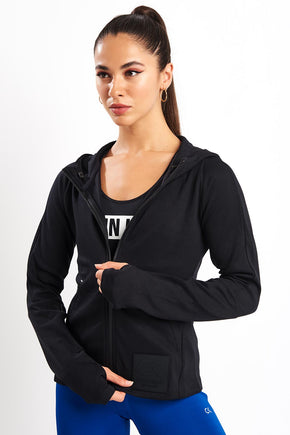 f2c4780cd45 Calvin Klein Performance Zip Through Hoodie - CK Black image 1 - The Sports  Edit