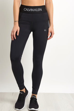 Calvin Klein Performance Sports Leggings - Black image 1 - The Sports Edit