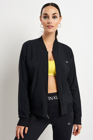 Calvin Klein Performance Logo Bomber Jacket - Black image 2 - The Sports Edit