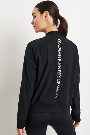Calvin Klein Performance Logo Bomber Jacket - Black image 1 - The Sports Edit