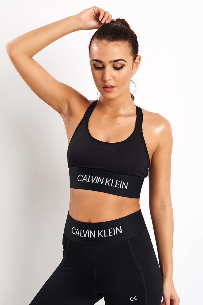 165585257 Calvin Klein Performance Crossback Mid Impact Sports Bra