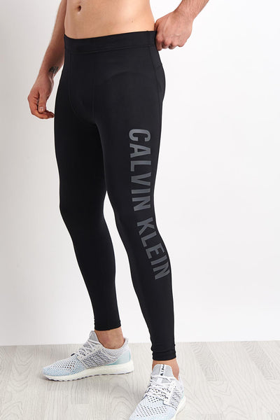 0a6361cb90 Calvin Klein | Full Length Tight Logo Leg - Black | The Sports Edit