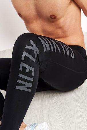 Calvin Klein Performance Full Length Tight Logo Leg - Black image 3 - The Sports Edit