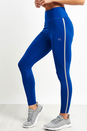 Calvin Klein Performance Full Length Butt Lift Leggings - Blue image 1 - The Sports Edit