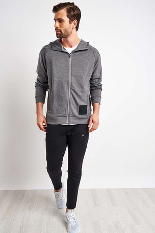 Calvin Klein Performance Zip Through Hoodie - Grey Heather image 4 - The Sports Edit