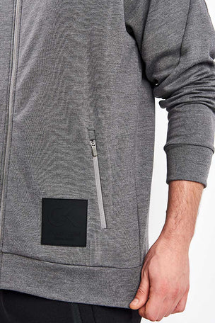 Calvin Klein Performance Zip Through Hoodie - Grey Heather image 3 - The Sports Edit