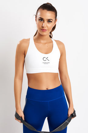 55524213c584d Calvin Klein Performance Racerback Sports Bra image 1 - The Sports Edit