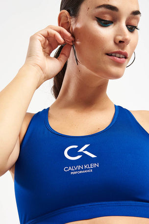 Calvin Klein Performance Racerback Logo Bra - Surf The Web image 4 - The Sports Edit