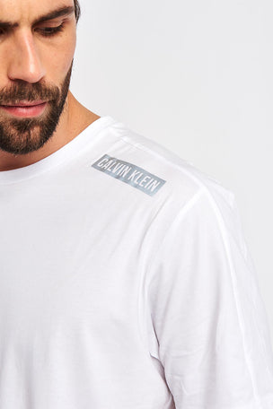 Calvin Klein Performance Logo Print T-shirt - White image 3 - The Sports Edit