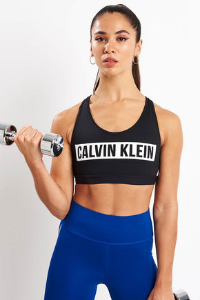 7e0d181cb50 Calvin Klein Performance High Impact Racerback Sports Bra - Black image 1 -  The Sports Edit