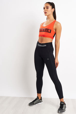 Calvin Klein Performance High Impact Racerback Sports Bra - Cherry Tomato image 4 - The Sports Edit