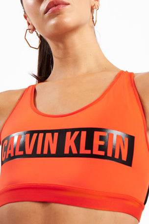 Calvin Klein Performance High Impact Racerback Sports Bra - Cherry Tomato image 3 - The Sports Edit
