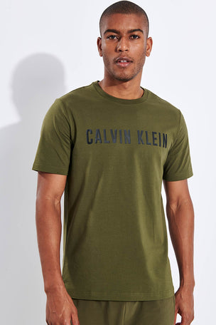 Calvin Klein Performance Logo T-shirt - Grape Leaf/CK Black image 1 - The Sports Edit