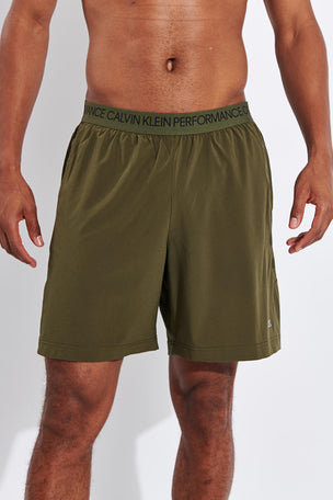 Calvin Klein Performance Gym Shorts - Grape Leaf image 1 - The Sports Edit