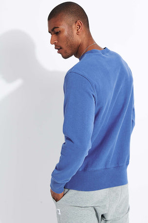 Champion Reverse Weave Embossed Script Logo Reverse Weave Sweatshirt - Blue image 3 - The Sports Edit