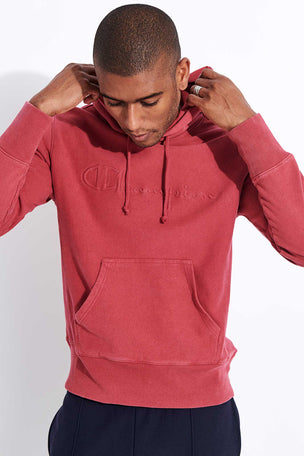 Champion Reverse Weave Faded Logo Hooded Sweatshirt - Red image 1 - The Sports Edit