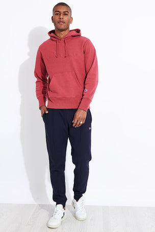 Champion Reverse Weave Faded Logo Hooded Sweatshirt - Red image 2 - The Sports Edit