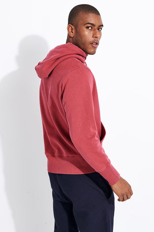 Champion Reverse Weave Faded Logo Hooded Sweatshirt - Red image 3 - The Sports Edit