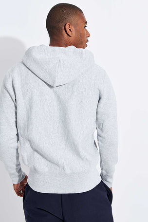 Champion Reverse Weave Zip-Up Reverse Weave Script Logo Hoodie - Grey image 3 - The Sports Edit