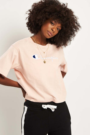 Champion Maxi t-shirt Pink image 1 - The Sports Edit