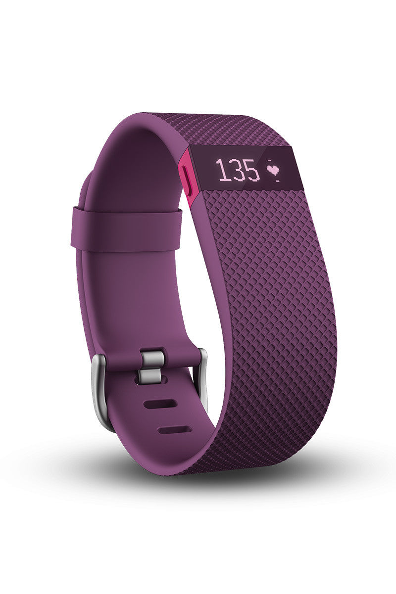 Fitbit Fitbit Charge HR - Plum image 2 - The Sports Edit
