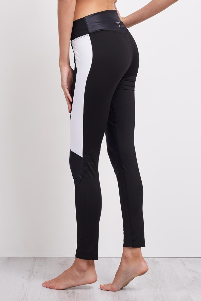 Charli Cohen Laser Legging - Black/White image 1 - The Sports Edit