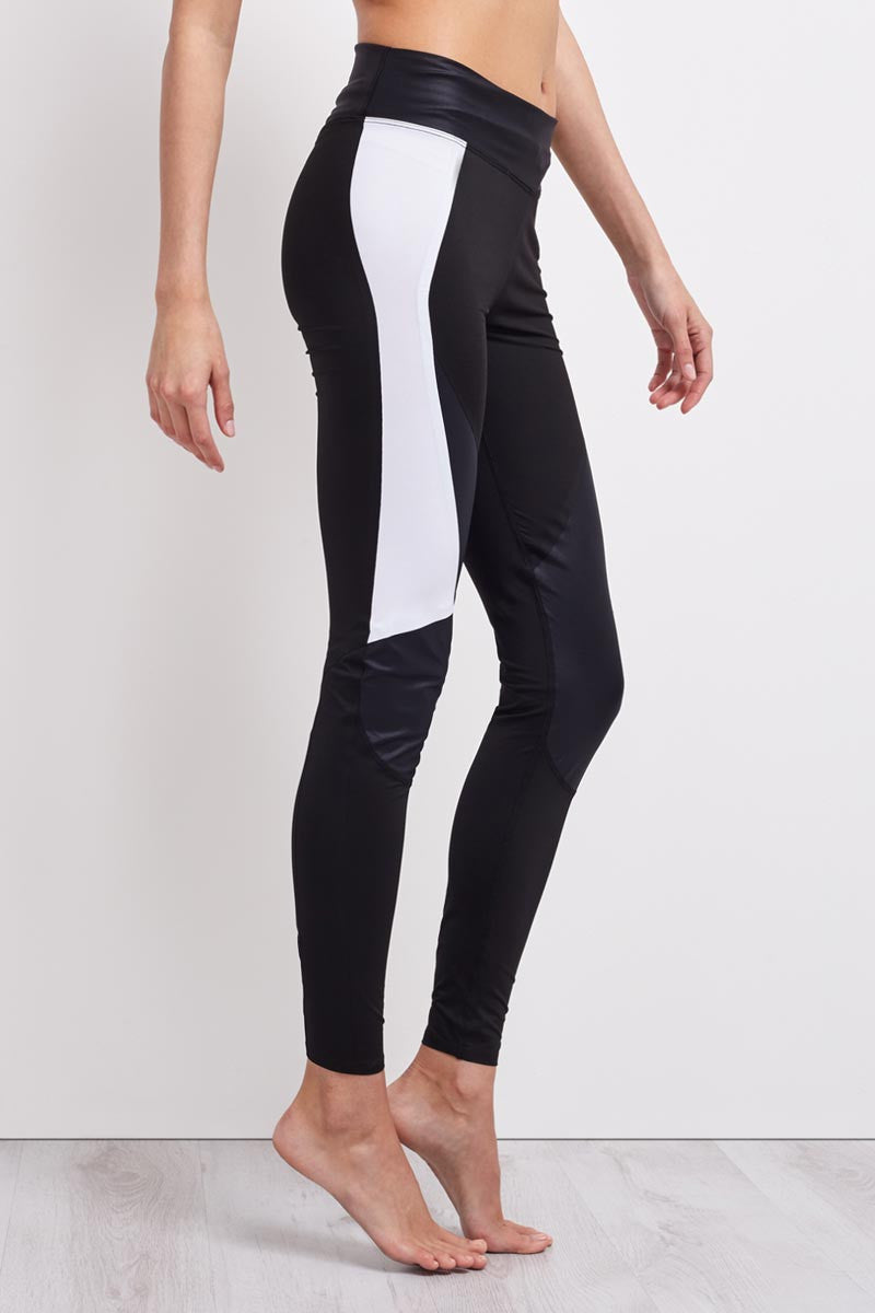 Charli Cohen Laser Legging - Black/White image 2 - The Sports Edit