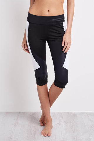 Charli Cohen Laser Capri-Black/White image 1 - The Sports Edit