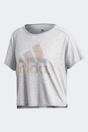 ADIDAS Here To Create Graphic Tee - Medium Grey Heather image 5 - The Sports Edit