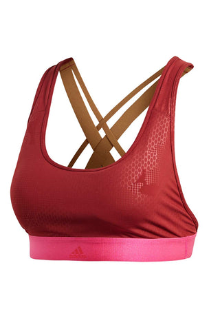 ADIDAS Don't Rest Iteration Bra - Noble Maroon F18 image 5 - The Sports Edit