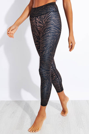 Dharma Bums Outlaw Recycled High Waisted Printed 7/8 Legging image 1 - The Sports Edit