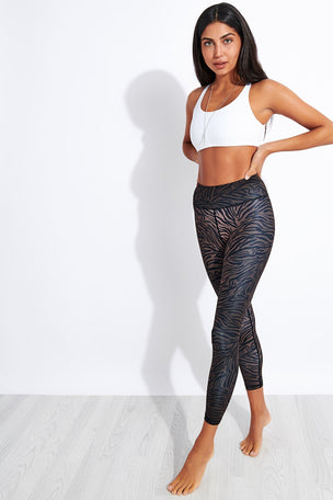 Dharma Bums Outlaw Recycled High Waisted Printed 7/8 Legging image 2 - The Sports Edit