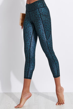 Dharma Bums Ziki Bondi Pocket Printed Recycled 7/8 Legging image 1 - The Sports Edit