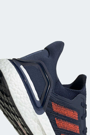 Adidas Ultraboost 20 Shoes - Collegiate Navy/Solar Red | Men's image 3 - The Sports Edit
