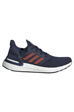 Adidas Ultraboost 20 Shoes - Collegiate Navy/Solar Red | Men's image 1 - The Sports Edit
