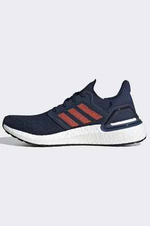 Adidas Ultraboost 20 Shoes - Collegiate Navy/Solar Red | Men's image 4 - The Sports Edit