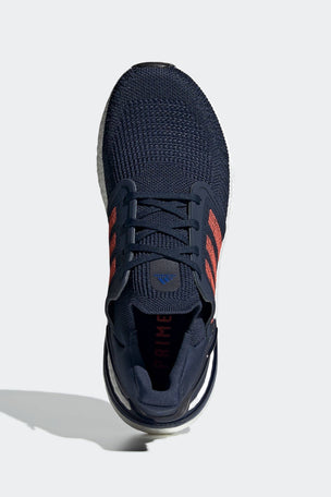 Adidas Ultraboost 20 Shoes - Collegiate Navy/Solar Red | Men's image 5 - The Sports Edit