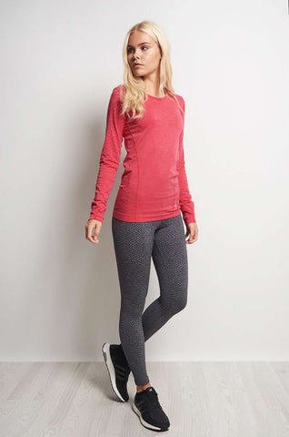 Every Second Counts Balance Top Pink Melange image 1 - The Sports Edit