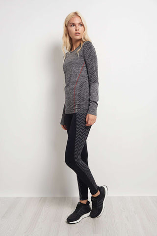 Every Second Counts Balance Top Grey Marl Melange image 1 - The Sports Edit