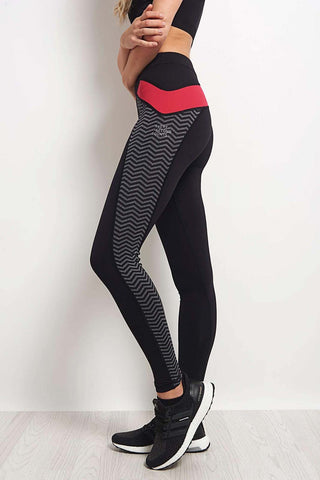 Every Second Counts Let's Go Legging Grey/Pink/Black image 1 - The Sports Edit
