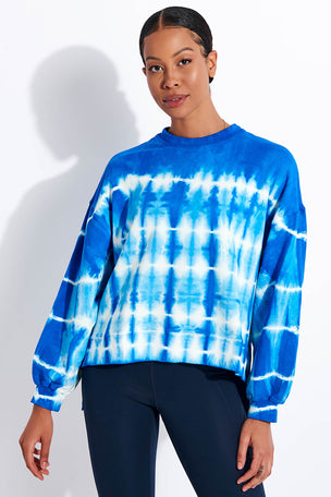 Electric & Rose Neil Sweatshirt - Cobalt/Cloud image 1 - The Sports Edit