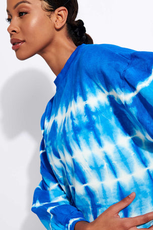 Electric & Rose Neil Sweatshirt - Cobalt/Cloud image 4 - The Sports Edit