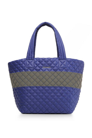 MZ Wallace Medium Metro Tote - Lapis/ Reflective image 1 - The Sports Edit
