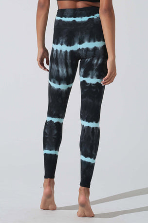 Electric & Rose Sunset Legging - Onyx/Seabreeze image 3 - The Sports Edit